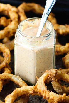 Kickin' Remoulade Sauce is an amazing dipping sauce. Not too spicy but so flavorful. Perfect for dipping and also on sandwiches! Perfect for sweet potato waffle fries, crab cakes and fried catfish po-boy! Cajun Recipes, Sauce Recipes, Cooking Recipes, Remolade Sauce Recipe, Cooking Sauces, Cajun Food, Copycat Recipes, Seafood Recipes, Marmalade