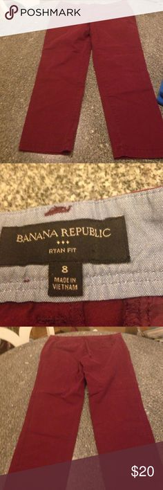 Banana Republic burgundy pants 8 Ryan fit. Great shape. Banana Republic Pants Skinny