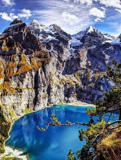 Lake Oeschine, Switzerland