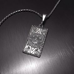 """Sterling Silver Pendant & Chain Stamped """"Mexico 950"""". Higher Sterling fineness  This is not a stock photo. The image is of the actual article that is being sold  Chain Size: 16 inches Pendant Size: 1.2 x .7 inches Sterling silver is an alloy of silver containing 92.5% by mass of silver and 7.5% by mass of other metals, usually copper. The sterling silver standard has a minimum millesimal fineness of 925.  All my jewelry is solid sterling silver. I do not plate.   crafted in Taxco, Mexico…"""