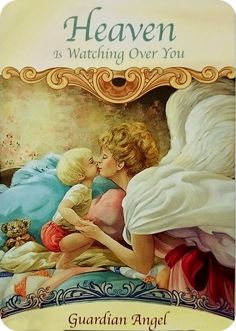 Daily Card - 30-1-16 - Heaven Is Watching Over You... this is a timely reminder that your angels and guides are watching over you and there ready and willing to help. All you have to do is ask! Then observe any repetitive thoughts, feelings or synchronistic events. This is their way of telling you they are there and they are communicating with you. Let go of your worries to them, as those worries are not serving you and answers will come when we are willing to release them.