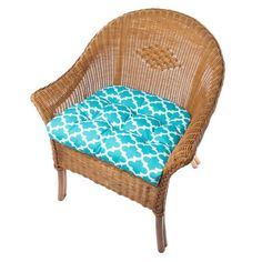 Top Home Design 75 Inspiring Porch Cushions To Complement Your Patio Home Furnishings 62 Outdoor Chair Cushions, Outdoor Dining Chairs, Dining Chair Pads, Blue Furniture, Home Furnishings, Indoor Outdoor, Wicker, House Design, Porch