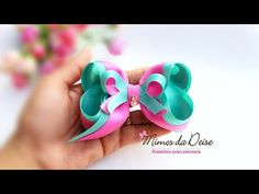 LAÇO DEISE 🎀 - YouTube Diy Hair Bows, Diy Bow, Ribbon Bows, Grosgrain Ribbon, Hair Bow Tutorial, Hairbows, Felt Flowers, Make It Yourself, Google