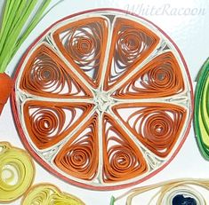 Gifts of summer - Homyachok quilling challenge Paper Quilling, Quilling Ideas, Paper Art, Paper Crafts, Quilling Tutorial, Art Forms, Art Lessons, Christmas Cards, Orange