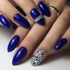 Have you ever try blue nail designs? They always look cool and stylish. Here we picked 21 best designs for you.