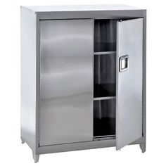 Raised Stainless Steel Cabinet with Paddle Lock // Stainless Steel Storage