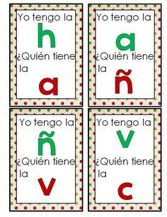 Spanish alphabet games. Juegos para aprender el abecedario.