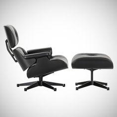 (198) Fancy - Eames Black Ash Lounge Chair & Ottoman