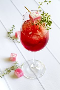 Cranberry and Turkish Delight Cocktail