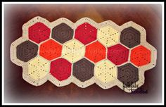 Fall table runner. Can be made with any colors.