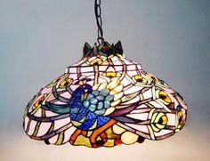 peacock hanging tiffany lamp