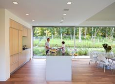 This family beach home in The Hamptons hamlet of Montauk is equipped with sustainable features such as a prefabricated foundation, a geothermal heating and cooling system are buried below ground and nontoxic finishes.