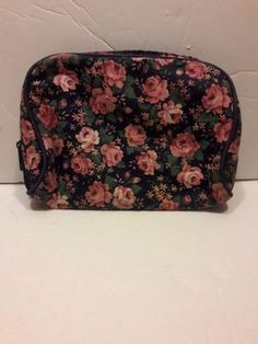 TED LAPIDUS Small Cosmetic Bag Travel Floral Print  #TedLapidus #CosmeticBagAccessoryJewelryBagToiletry