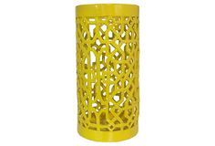 "23"" Ceramic Umbrella Stand, Yellow on OneKingsLane.com"