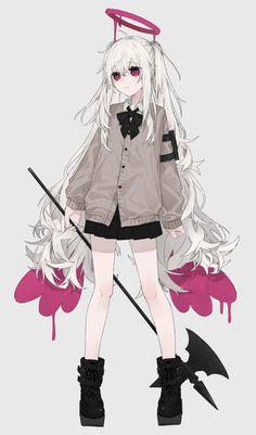 Anime Chibi, Anime Oc, Chica Anime Manga, Anime Angel, Anime Girl Cute, Kawaii Anime Girl, Anime Art Girl, Anime Girls, Gothic Anime Girl