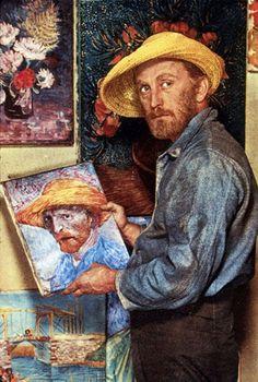 Kirk Douglas as Vincent Van Gogh in 'Lust for Life' in 1956.