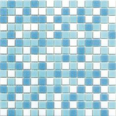 Leroy Merlin - Mosaico Classic 30 x 30 bianco, azzurro Mosaici