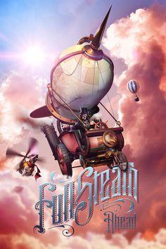 #steampunk #illustration #poster