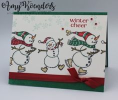 Stampin' Up! Spirited Snowmen Winter Cheer Card – Stamp With Amy K