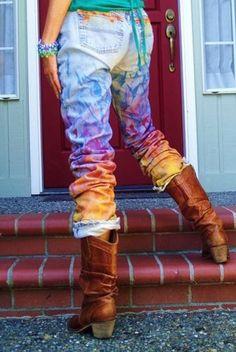 Красим джинсы в домашних условиях: секреты мастерства