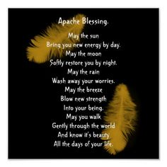 Apache Blessing golden feather Posters