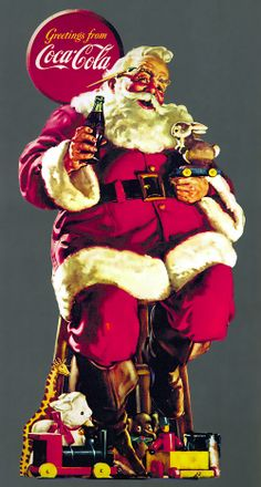 Our modern image of Santa was invented for CocaCola by Michigan-born illustrator Haddon Sundblom in 1931. In 1950, he had become the only Santa!