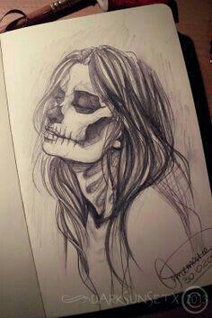 art bones drawing girl halloween horror love mask paper photography sk - art bones drawing girl halloween horror love mask paper photography sk Drawing You a - Pencil Art Drawings, Art Drawings Sketches, Cool Drawings, Art Sketches, Creepy Drawings, Pencil Drawings Tumblr, Skull Drawings, Bone Drawing, Painting & Drawing