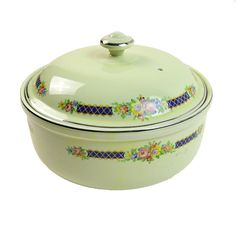 Hall's Superior Quality Kitchenware Covered Dish Blue Bouquet - Shop for Antiques, Vintage & Collectibles - The Vintage Village
