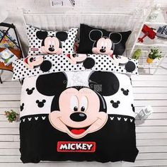 Home textiles adult kids Boys Disney mickey mouse 3d bedding set Queen – You Wish Gift