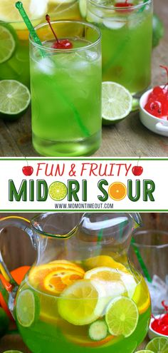 Colorful Drinks, Fun Drinks, Party Drinks, Mixed Drinks, Beverages, Easy Drink Recipes, Cocktail Recipes, Healthy Recipes, Punch Recipes