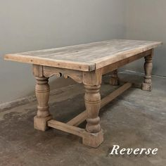 View this item and discover similar for sale at - Early century antique rustic solid stripped oak farm table is the perfect solution for families that need a super-sturdy, super-durable table for Rustic Kitchen Tables, Antique Dining Tables, Dinning Room Tables, Rustic Table, Farm Tables, Farm Style Dining Table, Antique Farm Table, Antique Farmhouse, Coffee Tables