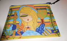 Makeup Bag 8x10 -Be a Mermaid.  Cosmetic bag, wristlet, with removable strap by MichelewithasingleL on Etsy
