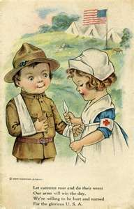 vintage postcard from WWI