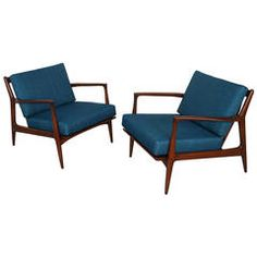 Danish Modern Lounge Chairs by Ib Kofod-Larsen | From a unique collection of antique and modern lounge chairs at https://www.1stdibs.com/furniture/seating/lounge-chairs/