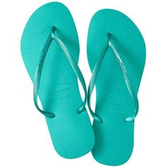 ee685e67a0570c Slim Solid Flip-Flops by Havaianas ( 24) ❤ liked on Polyvore featuring shoes