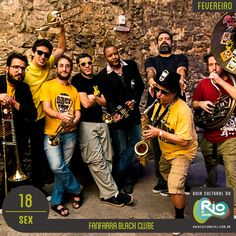 Fanfarra Black Clube   sábado, 18/02/17   Preço: 0,50 meia   Horário: 11:00   Centro de Referência da Música Carioca - Rua Conde de Bonfim, 824 – Tijuca