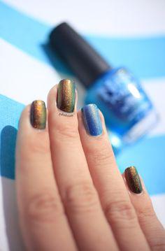 Mystic Glacier & Ninja Polish Ninja Nail Polish Lacquer Floam Holographic metallic effect nail polish @opulentnails #ninjanails #floam