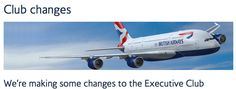 Rewards Canada: Big changes coming to British Airways Executive Club program - Earning and Redeeming affected