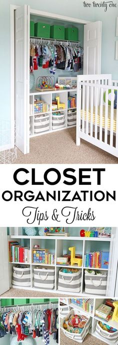 Closet organization tips and tricks! GREAT ideas for home organization! The post Closet organization tips and tricks! GREAT ideas for home organization! appeared first on Children's Room. Kid Closet, Closet Bedroom, Kids Bedroom, Closet Ideas, Bedroom Ideas, Master Bedrooms, Nursery Ideas, Shared Closet, Warm Bedroom