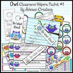 Teachers Notebook-Even if you don't have an owl themed classroom, these items will be cute and helpful in your classroom!