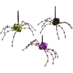 Pier One Spider Bells Halloween Ornaments ($2.38) found on Polyvore