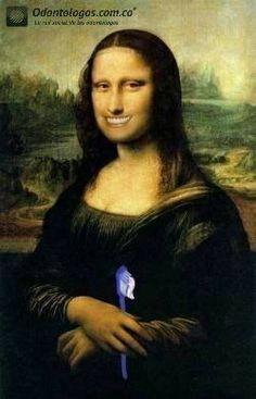 Una Mona lisa con una gran sonrisa #OdontólogosCol #Odontólogos