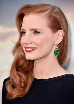 jessica chastain jade earrings - Google Search