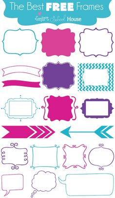 A Free Font Download that gives you frames! I LOVE using these on my blog:) #Fonts #Free #DIY