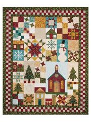 "Be Merry = Finished sizes:    Holiday Quilt: 59"" x 75""  Small Wall Quilt: 40"" x 40""  Large Wall Quilt: 40"" x 70"""