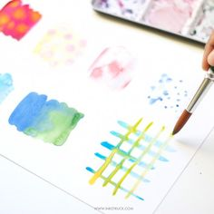 Learn the basics of blending which helps create beautiful abstracts, florals and more in watercolor. Detailed photos on the blog!