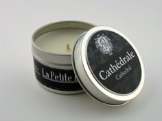 Cathédrale (Cathedral) Scented Handmade Travel Tin Candle 6 oz. Unique France Inspired Fragrance Blend