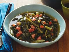 """Vegetarian """"Southern-style"""" Collard Greens recipe from Sunny Anderson via Food Network"""