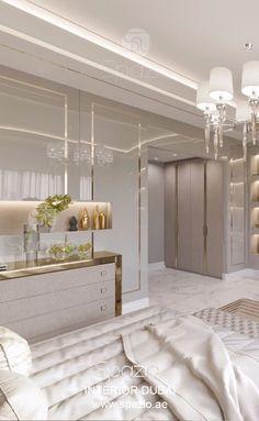 Bedroom interior design in Dubai – master bedroom interior design and decoration ideas in modern luxury style Bedroom Interior Design Images, Luxury Bedroom Design, Master Bedroom Interior, Luxury Interior Design, Living Room Interior, Modern Bedroom, Bedroom Decor, Bedroom Interiors, Trendy Bedroom