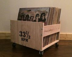 Build this unique record crate yourself with the help of detailed plans that walk you through the process. Six pages of step by step details and tips that make this a fun and easy wood working project.